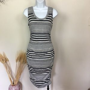 Striped converse tank dress. Midi. Medium.